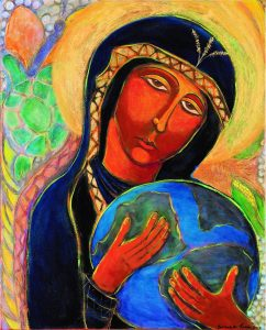 Black Madonna Cradles the Earth, by Yvonne M. Lucia (copyright)